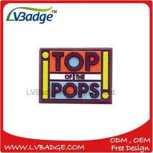 Promotional PVC Badge with Pin pictures & photos