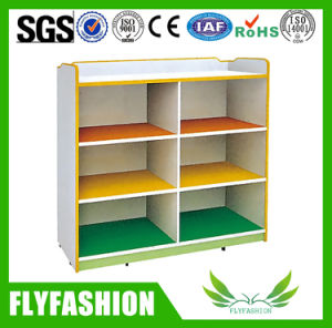 Children Furniture Wooden Kids Toy Cabinet with Wheels (SF-116C) pictures & photos