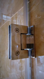 Nano Easy Clean Glass Bathroom Simple Frameless Hinge Shower Door pictures & photos