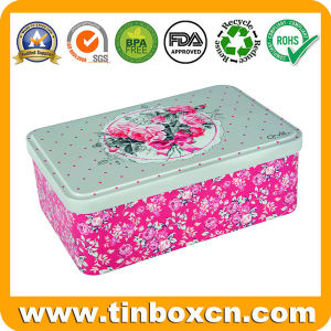 Food Grade Rectangular Metal Can Tin Container for Cookie Biscuit pictures & photos