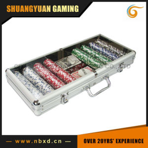 400PCS Poker Chip Set in Transparent Cover Aluminum Case (SY-S25) pictures & photos