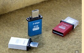 Mini Andorid OTG USB Drive with Adaptor for Android Smart Phone/Tables (OM-P409) pictures & photos