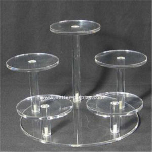 Custom Clear Plastic Acrylic Rotating Shoe Rack pictures & photos