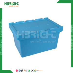 Packing Box Plastic Moving Tote Bins with Lid pictures & photos