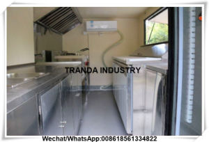 Food Cooking Cart/Mobile Dining Car/Fast Food Kitchen Trailer Car pictures & photos