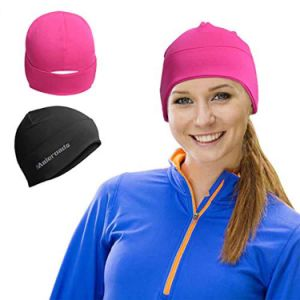 Dome Beanie for Men Women′s Posh Dome Head Toque Power Stretch Cap Sports Skull Hat Helmet Liner Black Rose Red pictures & photos