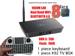 Android TV Box X92 Amlogic S912 Qcta-Core Dual WiFi DDR 3GB Flash 16GB Optional IPTV North America Channels Latino Channels Ect pictures & photos