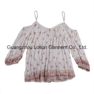 Classic Fashion Pure Color Women 3/4 Sleeve Blouse