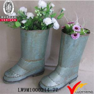 Shoe Shape Garden Metal Planter Flower Pot pictures & photos