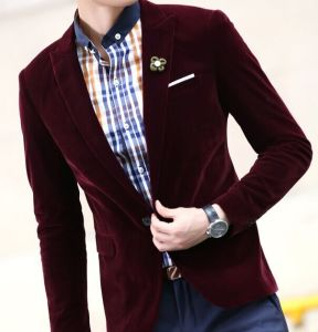 The New Spring 2016 Men Velvet Casual Jacket pictures & photos