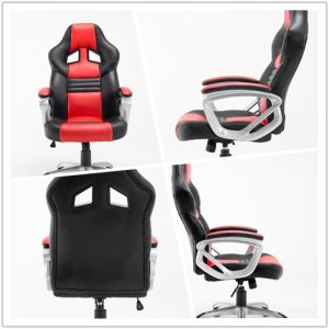 PVC Material Adjustable Height Desk Racing Office Chair Gaming Chair pictures & photos