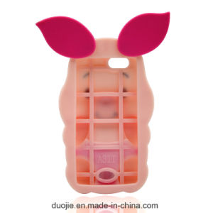 3D Pig Cartoon Anti-Scratch Silicone Case for iPhone 6s / 7plus J7prime J5prime Phone Accessories (XSDW-002) pictures & photos