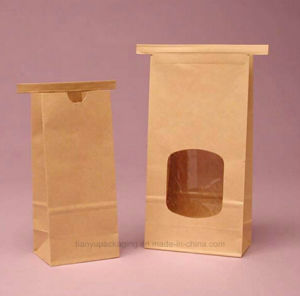 Kraft Paper Bag with Tin Tie Handle for Popcorn pictures & photos