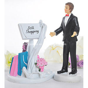 Still Shopping Message Board Funny Wedding Cake Topper Figurine pictures & photos
