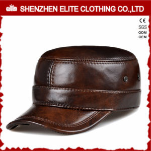 Wholesale Men Custom Made Leather Snapback Caps pictures & photos