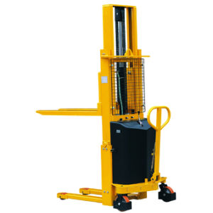 Semi Electric Straddle Leg Type Fork Lift Stacker pictures & photos