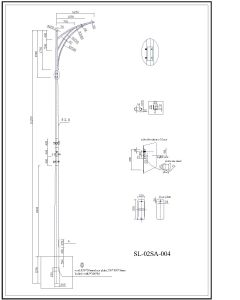 70W 100W 150W LED Garden Light Pole pictures & photos