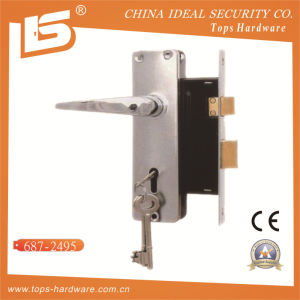 Aluminum Handle Iron Plate Mortise Lockset (687-2495) pictures & photos