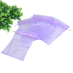 Purple Drawstring Organza Pouch for Wedding Favours pictures & photos