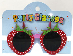 Party Glasses with Strawberry Red