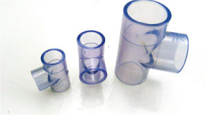 Transparent PVC Tee/Pipe Fittings with Size Dn15-Dn100