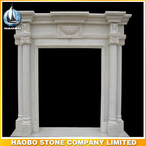 White Marblefireplace Surround Floral Carving pictures & photos