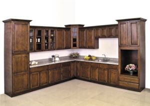 American Solid Wood Birch Ktichen Cabinet pictures & photos