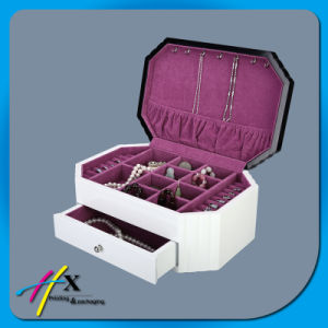 Matte Finish Lacquer Packaging Single Wooden Jewelry Box pictures & photos