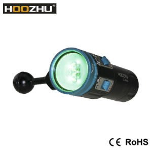 Hot Selling CREE Xml 2 LED Max 2600 Lm Waterproof 100m Diving LED Torch with Five Color Light for Video