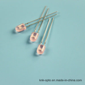 5mm Oval Pink Diffused LED pictures & photos
