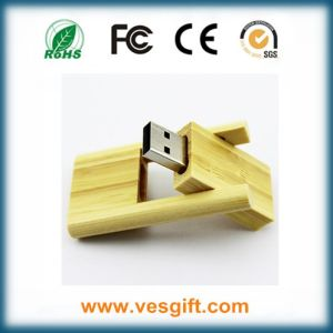Premium Gift Cool Design Swivel Maple Wood USB Stick pictures & photos