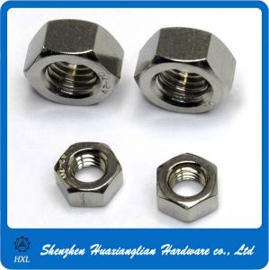 DIN934 DIN555 DIN936 Stainless Steel Lock Hex Hexagon Nut pictures & photos
