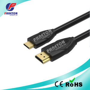 1080P Black HDMI Cable with Goldend Plated Plug (pH6-1214) pictures & photos
