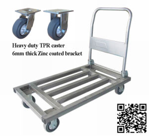 500kg Metal Foldable Hand Truck with TPR Caster pictures & photos