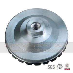 Aluminium Base Straight Turbo Diamond Grinding Cup Wheel for Stone Concrete pictures & photos
