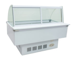 Curved Use Frozen Food Display Cabinet Freezer Sqc-8.0bz pictures & photos