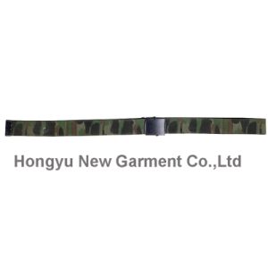 Guide PP Webbing Woolland Camouflage Belt with Alloy Buckle (HY-WB012) pictures & photos