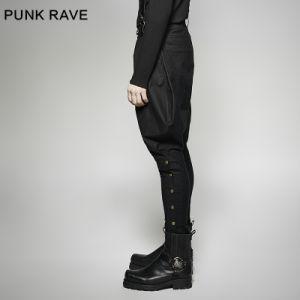 K-269 Punk Rave Military Uniform Elastic Twill Denim Baggy Men′s Pants pictures & photos