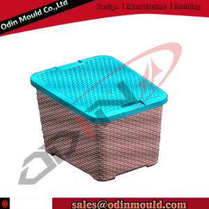 Rattan Design Plastic Storage Box Injection Mould pictures & photos