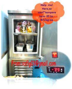 Blast Freezers/Flash Burst Italian Ice Cream Gelato Machine for Salse pictures & photos
