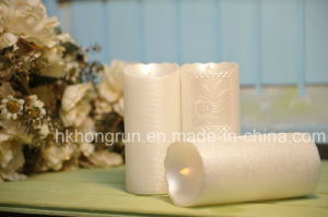 Flameless LED Candle with Decoration Surface (HR75)