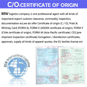 Certification of Original C/O, Form a, Form F (Chile) , M pictures & photos