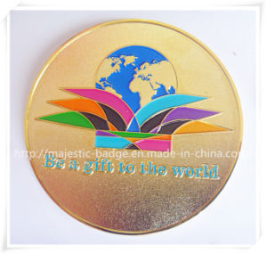 Zinc Die Cast & Plating Gold One-Side Medal pictures & photos