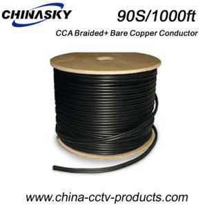 CCA Braided and Bare Copper Conductor Rg59 Siamese Cable (90S/1000FT) pictures & photos