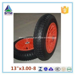 Cheap Wheelbarrow Nylon Bushing Rubber Wheels (3.00-8) pictures & photos