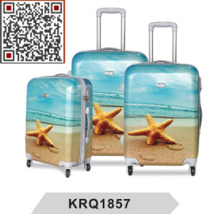 Starfish Design ABS PC Printed Travel Trolley Luggage pictures & photos