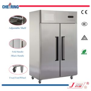 Cheering CFC Free Big Capacity Double Door Stainless Steel Refrigerator for Kitchen with Ce Approval pictures & photos