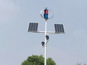 10m 100W LED Wind Turbine Solar Hybrid Street Lamp pictures & photos