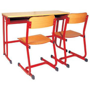 Modern School Double Student Desk and Chair in Classroom (FS-3232B) pictures & photos