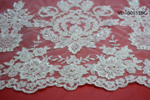 Factory Wholesale Lace Fabric Low Price Wedding Vl-100153-Bc pictures & photos